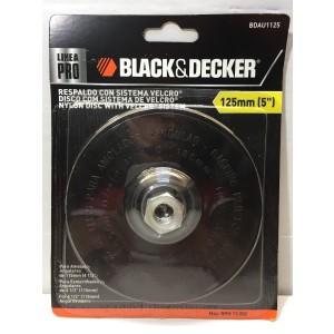 Accesorio Para Amoladora Bdau1125 Respaldo 125mm Nylon Con Velcro